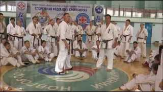 Уроки каратэ. Хадзимэ Казуми / Hajime Kazumi - защита от ударов ногами смещением