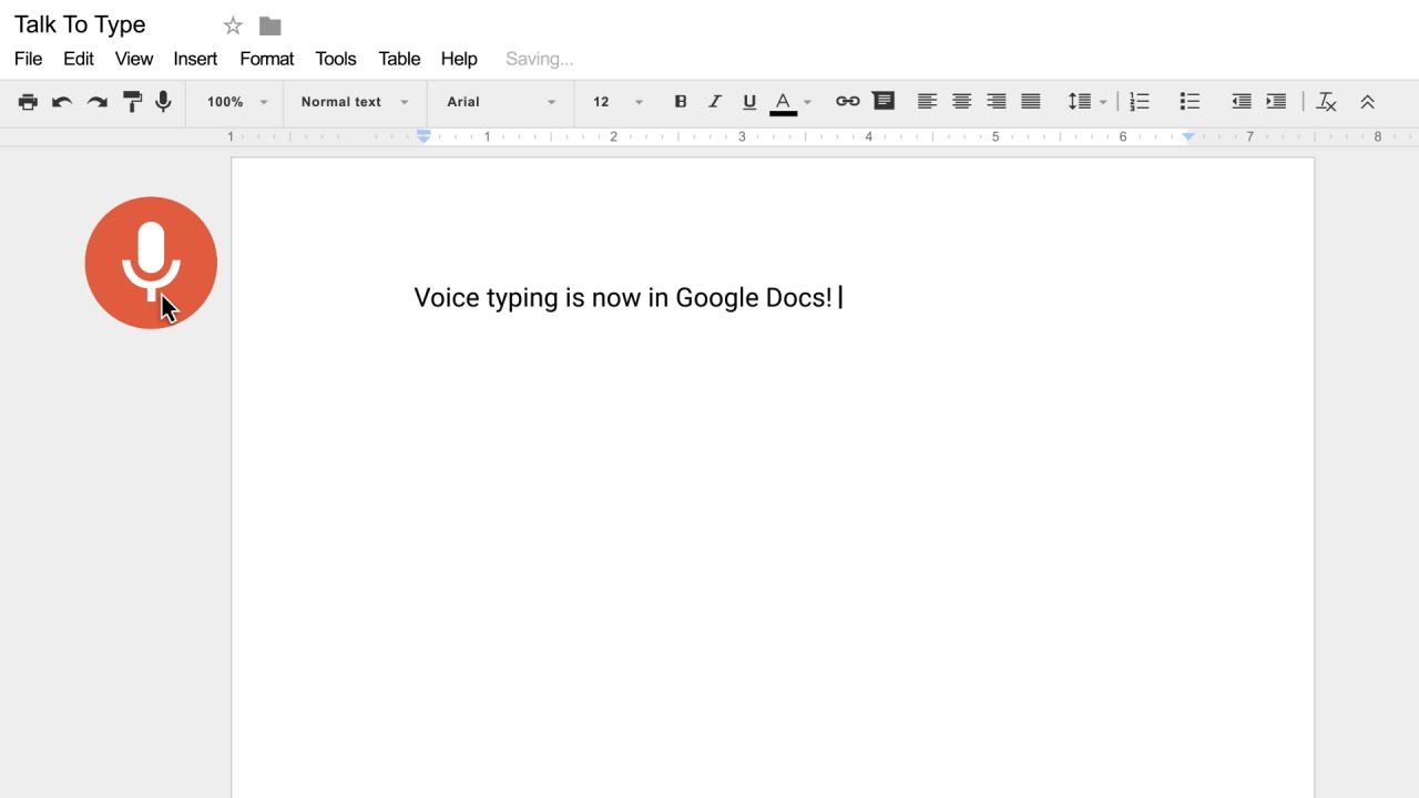 Voice typing in Docs