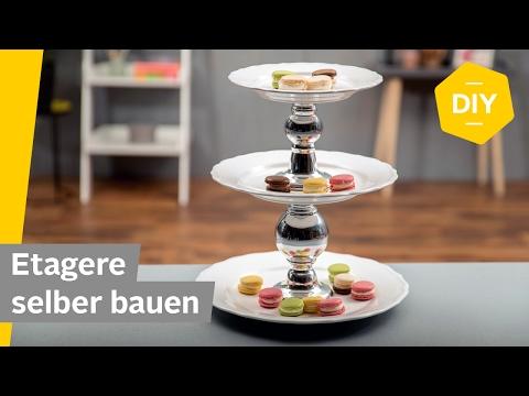 DIY: Etagere selber machen mit Tellern – super einfach, ohne Bohren | Roombeez – powered by OTTO