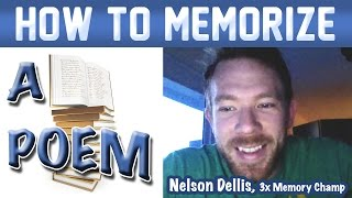🔥 How to Memorize a Poem - Nelson Dellis   Memory Experts Training   USA Champion   Remember Poetry