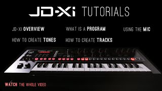 Roland JD-Xi Analog Digital Synthesizer Tutorials