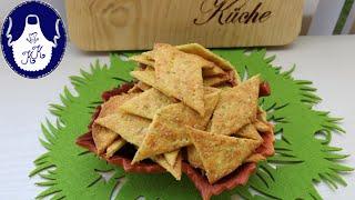 Käse Chips / Käse Kräcker für Naschkatzen selber backen, knusprig und lecker