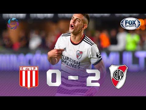 SEGUE O LÍDER! Veja os melhores momentos de Estudiantes 0 x 2 River Plate pela Superliga Argentina