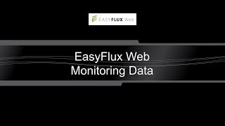 easyflux web: monitoring data