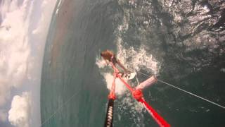 preview picture of video 'Jabberwock Beach Antigua Kitesurf Easy Session'