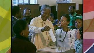 Nomination of Nelson Mandela as the first democratically elected President of South