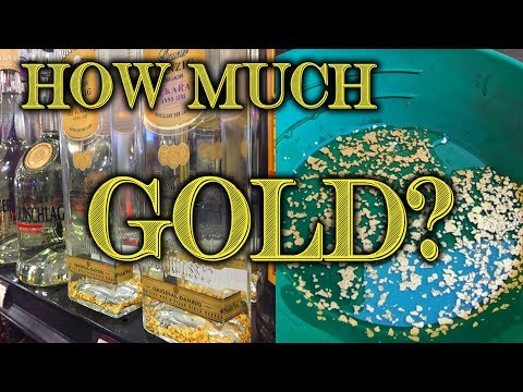 Extracting Gold From Gold Liqueur?! How Much?? Goldwasser - Goldschlager - Gold Flake Recovery