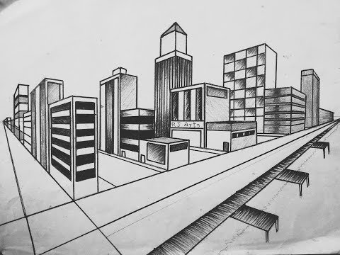 How To Draw City Step By Step City Drawing Tutorial For Beginners