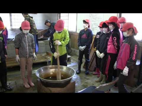 種子島の学校活動:増田小学校黒糖づくり体験