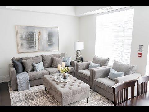 Condo Living Room Makeover - Kimmberly Capone Interior Design