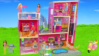 Barbie Dolls: Dollhouse Furniture w/ Bedroom, Kitchen & Bathroom | Dreamhouse Doll Toys for Kids