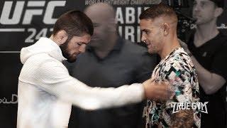 Khabib Nurmagomedov vs. Dustin Poirier Face off UFC 242