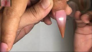 New Nail Art 2018/Nail Technician Smile/Ombre Acrylic Brown And Pink Ombre/402