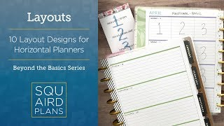 10 Layout Designs For Horizontal Planners :: Beyond The Basics :: Happy Planner Horizontal