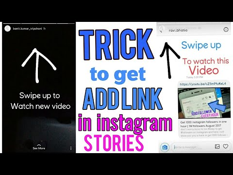 Trick to get Add Link feature in instagram stories without getting verified    Swipe up feature
