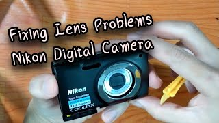 Fixing Lens Problems on a Nikon Digital Camera. ( lens error , lens stuck , Lens jammed, dropped)