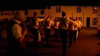 preview picture of video 'Cardiff Morris dance Y Derwydd in Llantwit Major. 20th August, 2013.'