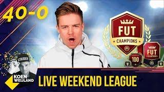 40/0!! | FIFA 18 WEEKEND LEAGUE | MIJN LAATSTE 15 POTTEN!