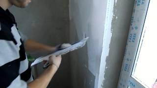 Шпаклевка стен, своими руками, под обои, под покраску, обучающее видео, шпатлевка стен