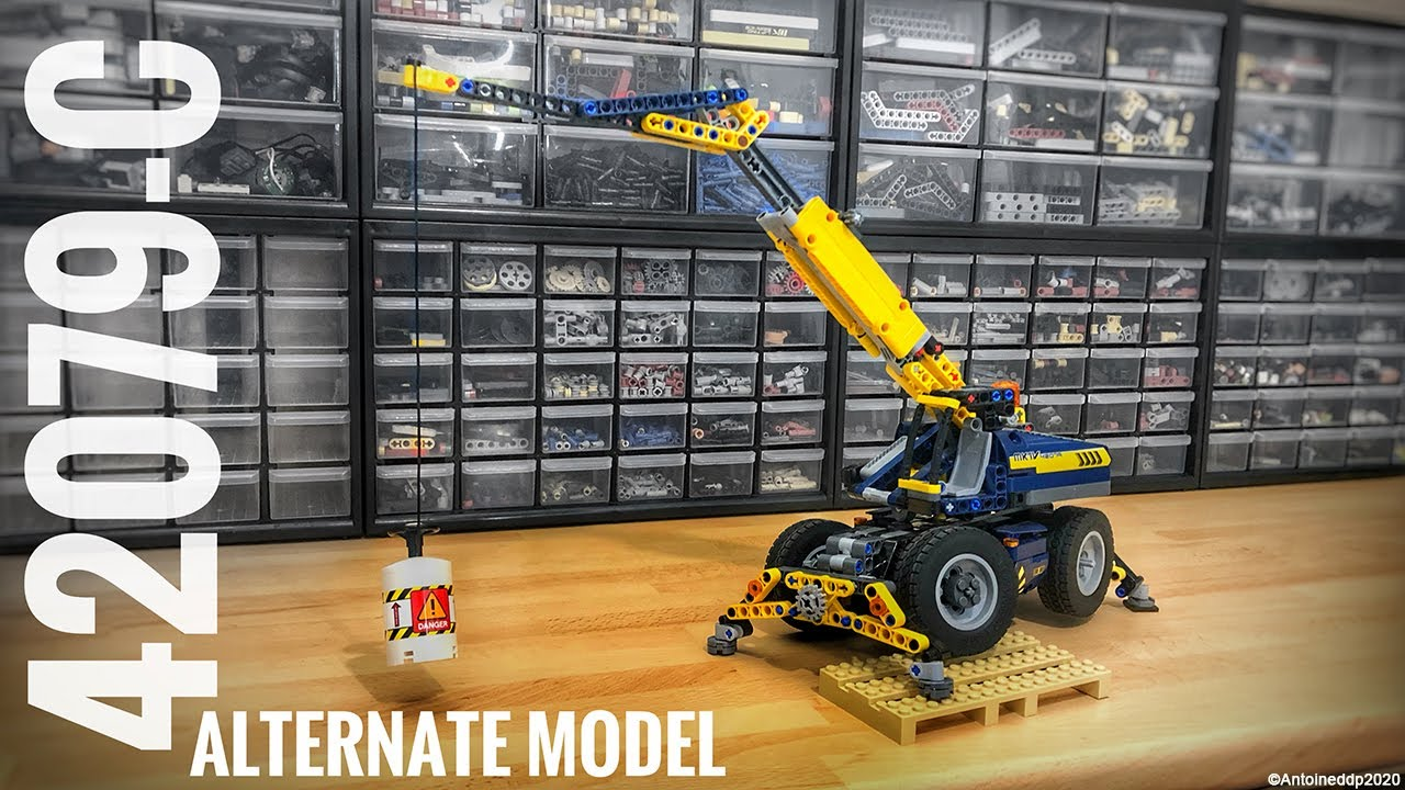 Lego Technic Rough Terrain Crane - 42079 D model