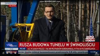 Morawiecki o potężnym wiertle.
