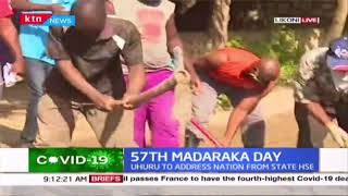 Shika adabu residents take it upon themselves to repair roads on 57th Madaraka day