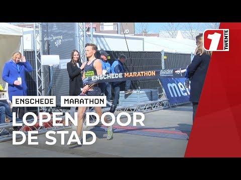 Klaas van Pijkeren uit Dronten loopt marathon Enschede binnen de drie uur