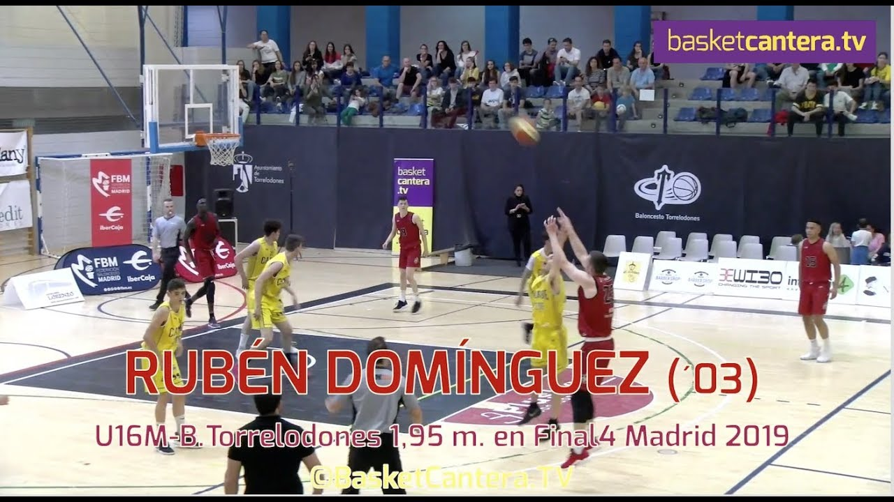 RUBÉN DOMÍNGUEZ (´03) 1,95 m. Baloncesto Torrelodones. Final 4 Cadete FBM 2019 (BasketCantera.TV)