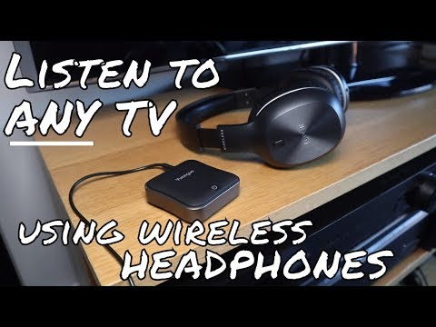 Listen to ANY Tv with your Wireless Headphones - Yuanguo Bluetooth 5.0 Transmitter and Receiver