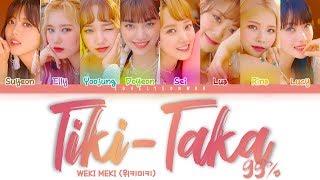Weki Meki (위키미키) – Tiki-Taka (99%) Lyrics (Color Coded Han/Rom/Eng)