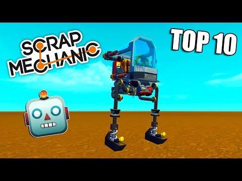 TOP 10 Šílených Robotů v Scrap Mechanic - Nakashi [CZ]