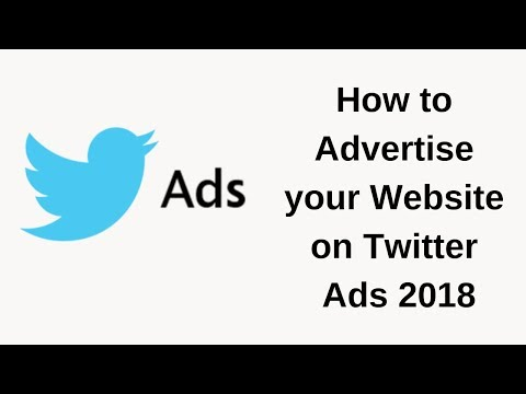 How to Advertise your Website on Twitter ads 2018