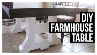 DIY FARMHOUSE TABLE | Build With Us