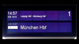 Berlin Hauptbahnhof ICE Hamburg-Altona - München Hbf Gleis 1 in Deutsch / Englisch
