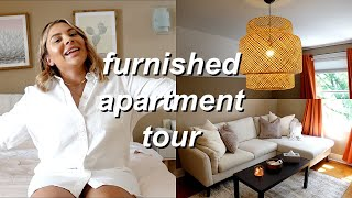 MY FURNISHED APARTMENT TOUR | MID-CENTURY MODERN MEETS BOHO DECOR