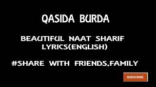 qaseeda burda shareef lyrics in arabic - Kênh video giải trí