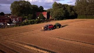 Hay Bale Making, Wisbech, Cambridgeshire (2019) - DJI Mavic Pro (4K)