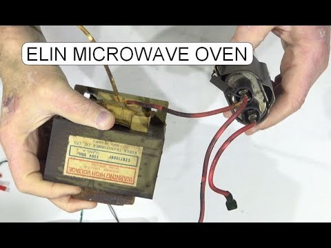 MICROWAVE OVEN ELIN TYP-2707 TRANSFORMER, CAPACITOR, DIODE