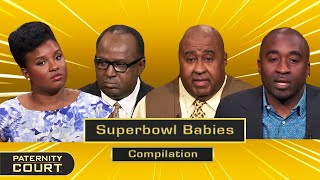 Superbowl Babies: Football Player Dads Touchdown With Babies (Compilation)   Paternity Court