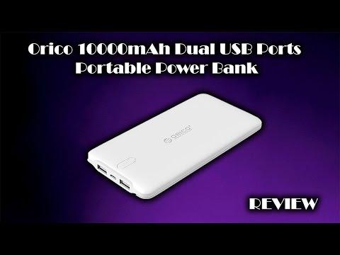 ORICO 10000mAh Dual USB Port Portable Power Bank Review