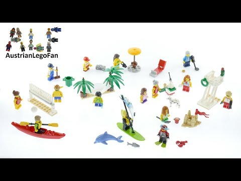 Vidéo LEGO City 60153 : Ensemble de figurines LEGO City - La plage