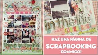 Inspírate conmigo: Página de Scrapbooking de principio a fin. Week in the life Sant Jordi 2016