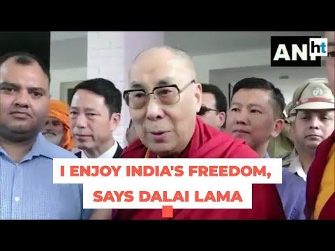 I enjoy India's freedom, says Tibetan spiritual leader Dalai Lama
