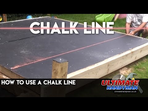How to use a chalk line
