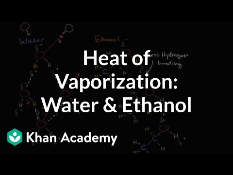 Heat of vaporization of water and ethanol (video) | Khan Academy