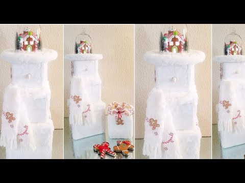 DIY | SNOWMAN – LIGHT SCENERY INSIDE HAT | INEXPENSIVE DIY  2018