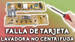 😕 Lavadora LG no centrifuga | Falla en tarjeta electrónica (Solución 👍) parte 3