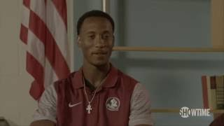 Florida State's Travis Rudolph meets Bo Paske's mother for the first time
