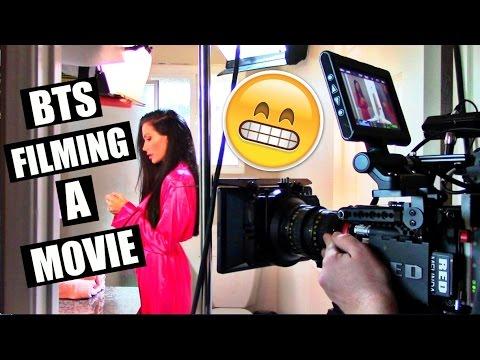 FILMING A MOVIE ( FOLLOW ME AROUND SET ) VLOG