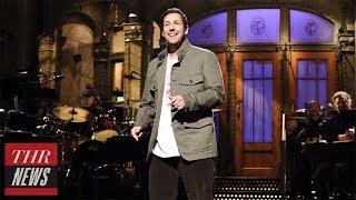 "'SNL' Rewind: Adam Sandler's Hosting Debut And ""Family Reunion,"" Tribute To Chris Farley | THR News"